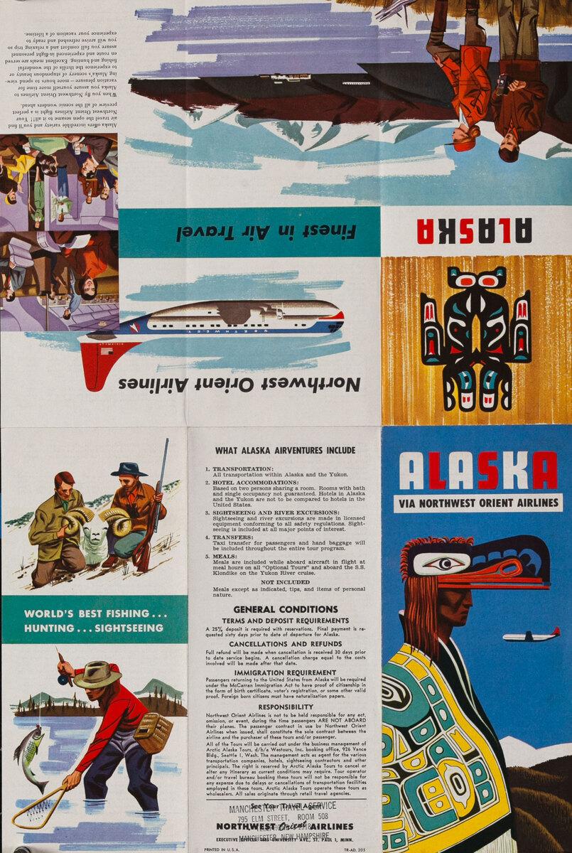 Northwest Orient Asaska Travel Brochure