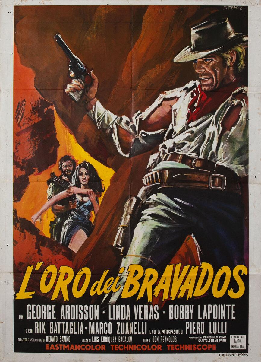 Chapaqua's Gold original title L'oro dei bravados Italian Movie Poster