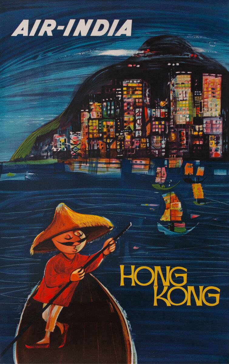 Air India Hong Kong Victoria Harbor