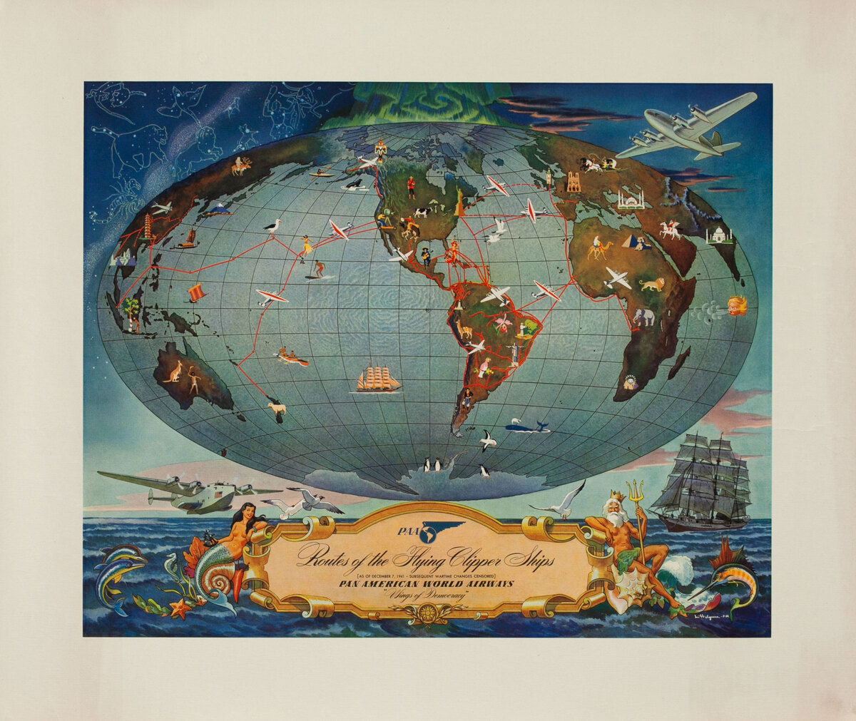 PAA Routes of the Flying Clipper Ships