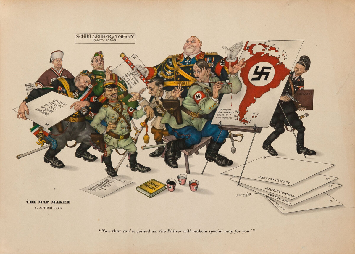 The Map Maker, Esquire Magazine WWII Poster