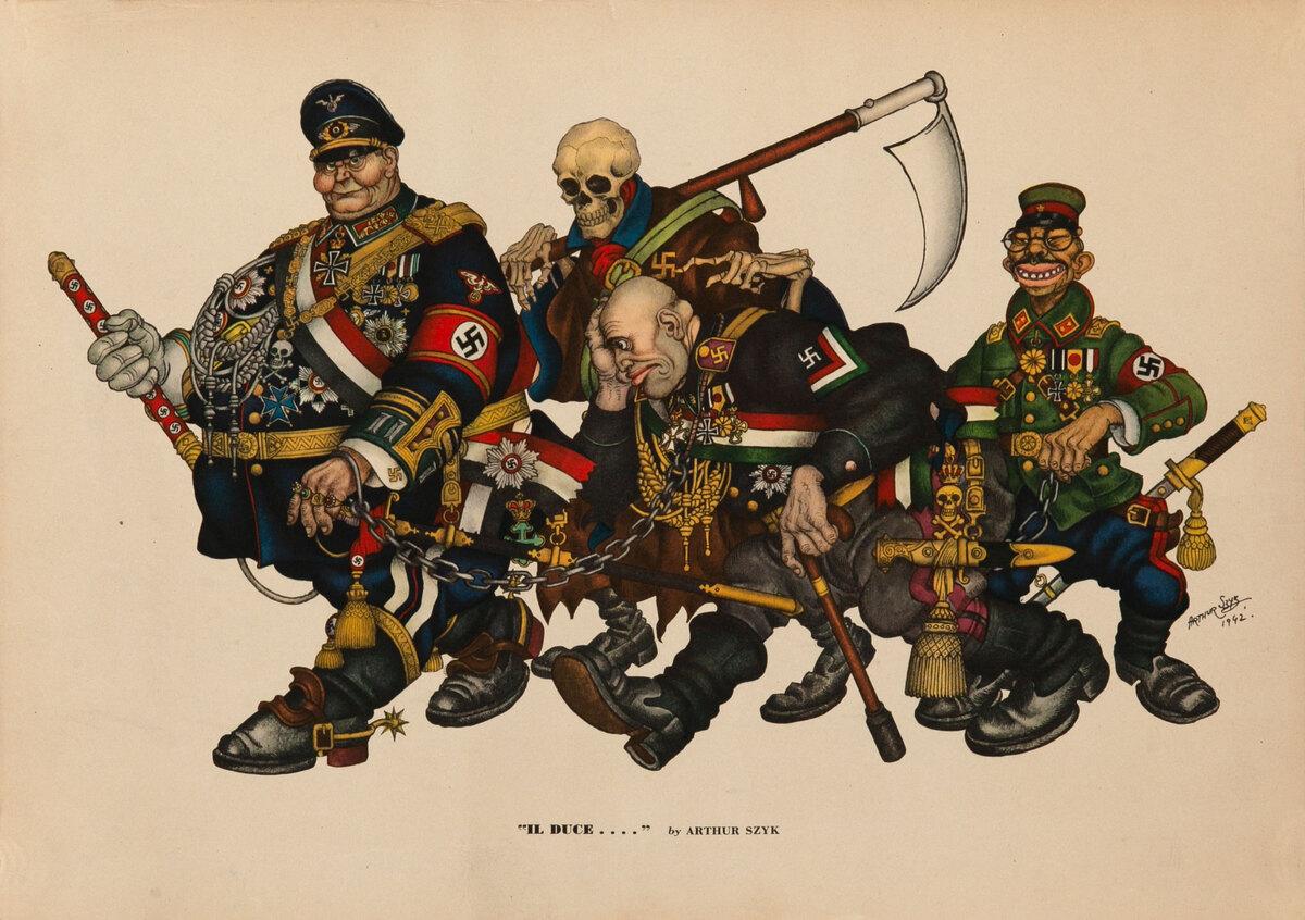 Il Duce, Esquire Magazine WWII Poster