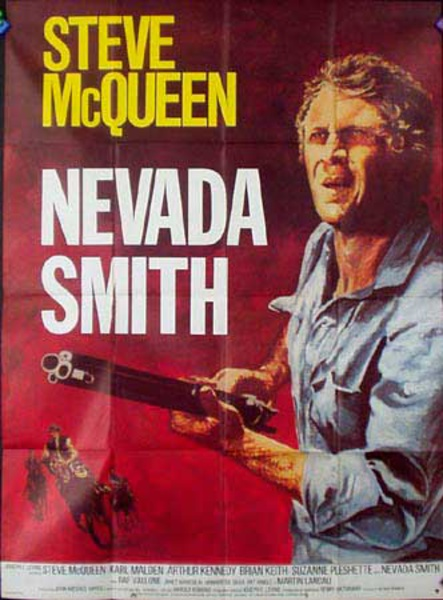 Nevada Smith French Release Vintage Movie Poster
