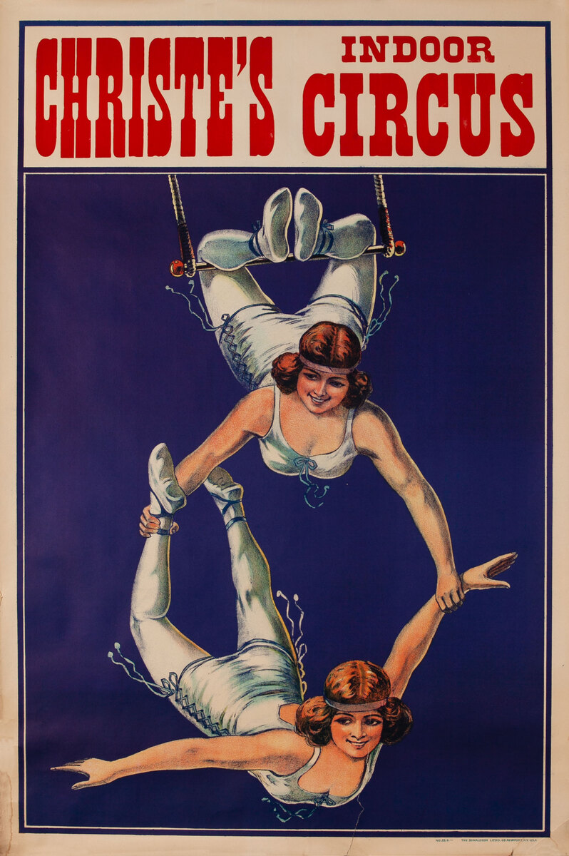 Christie's Indoor Circus Poster 2 girl aerial act