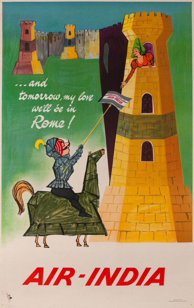 ..and tomorrow my love we'll be in Rome! Air I