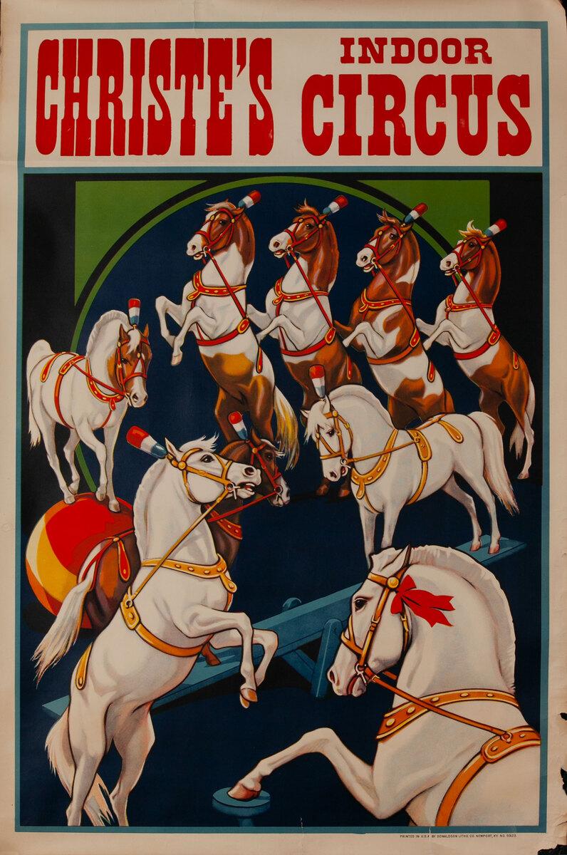 Christie's Indoor Circus Poster dancing ponies