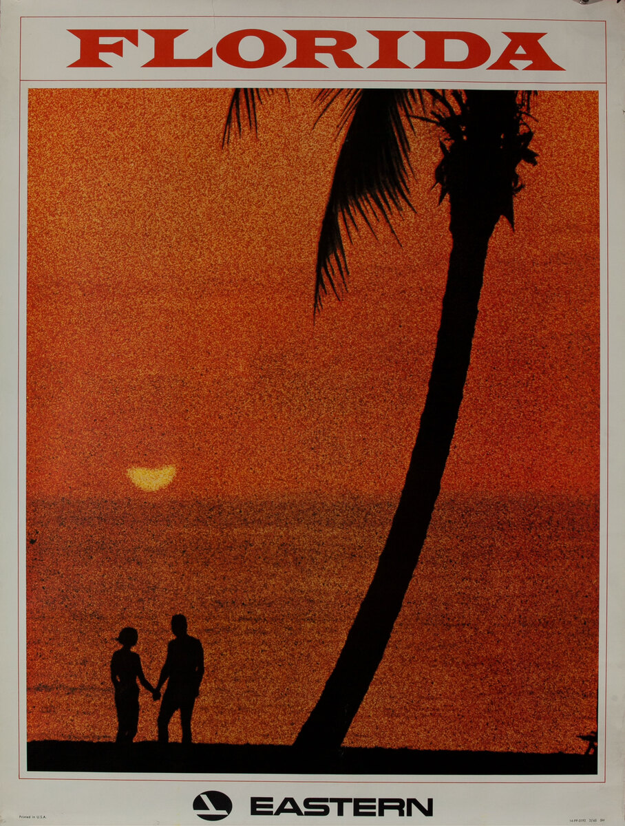 Eastern Air Lines Florida couple at sunset