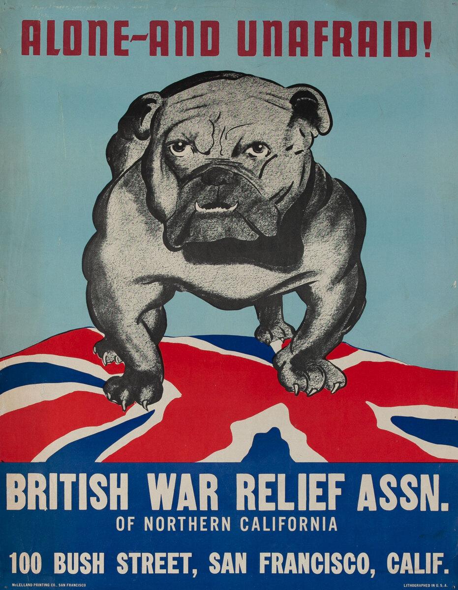 Alone - and Unafraid British War Relief Assn. Bulldog