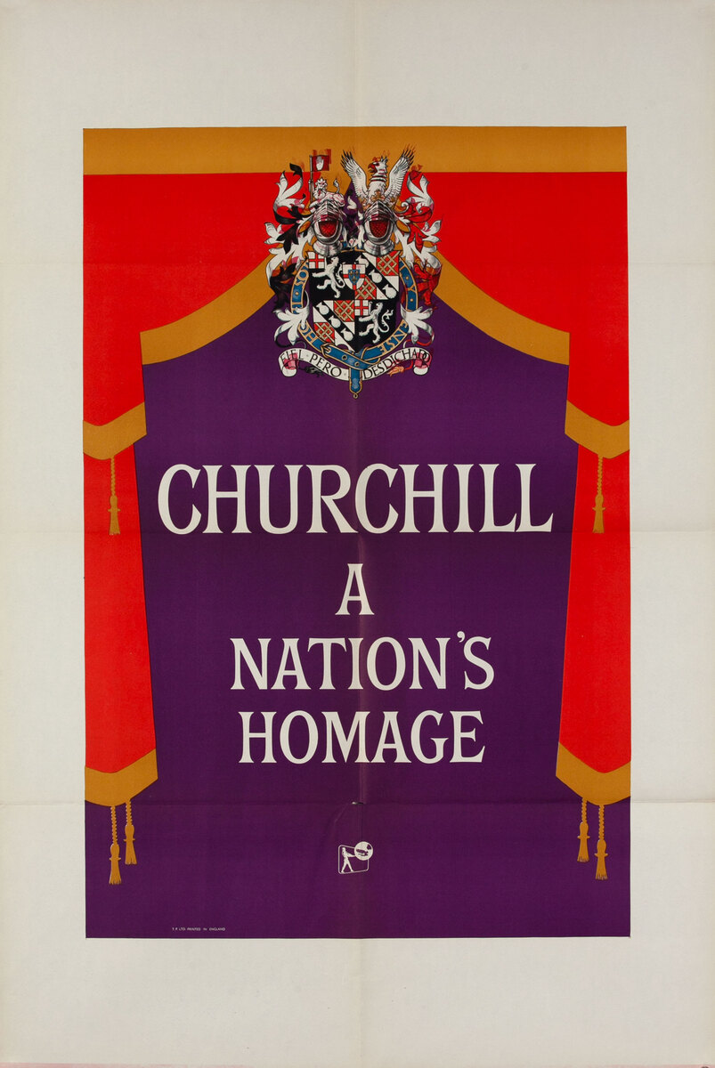 Churchill a Nation's Homage - Documentary film poster