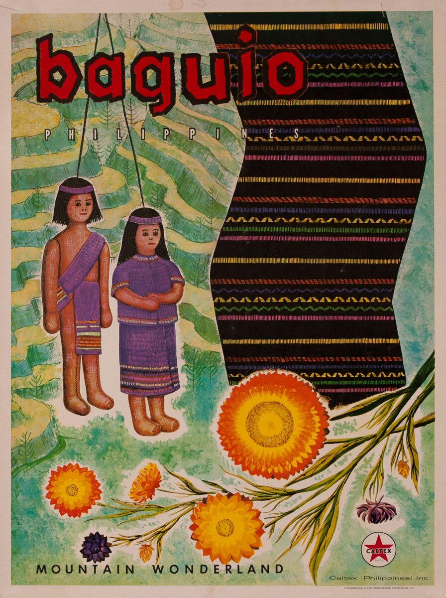 Baguio Mountain Wonderland Philippines Caltex Poster