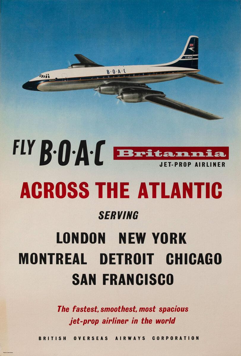 Fly BOAC Britannia Across the Atlantic