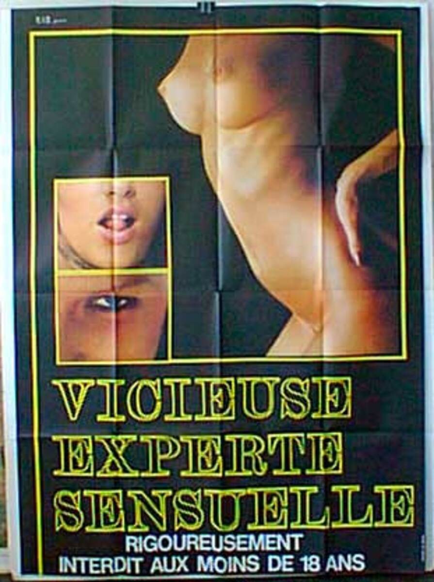 Vicieuse Experte Sensuelle Original French X-Rated Movie Poster