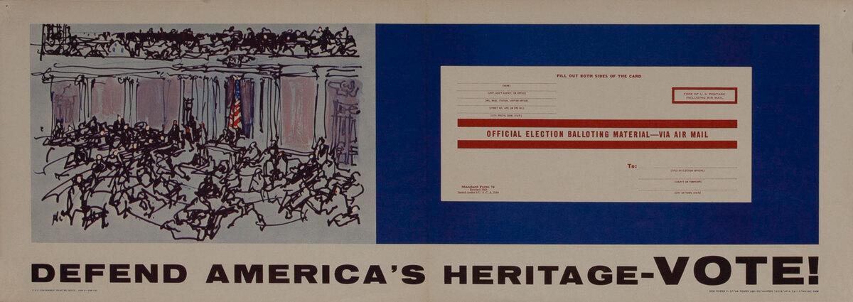 Defend America's Heritage - VOTE