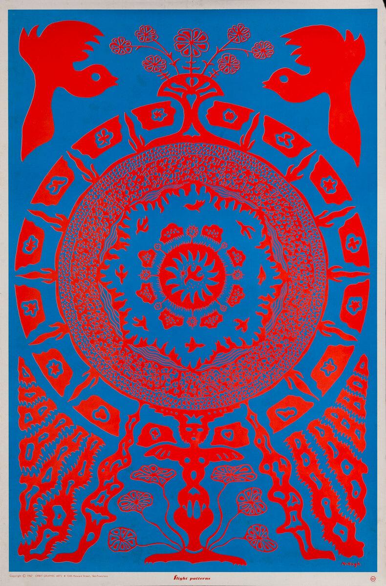 Flight Patterns - Psychadelic blacklight poster