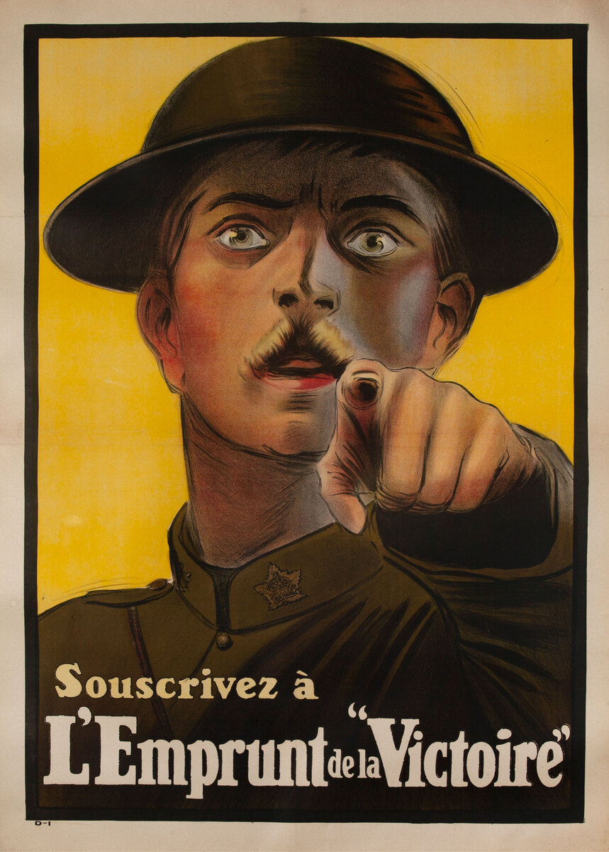 Buy Your Victory Bonds, Original Canadian WWI Poster French version