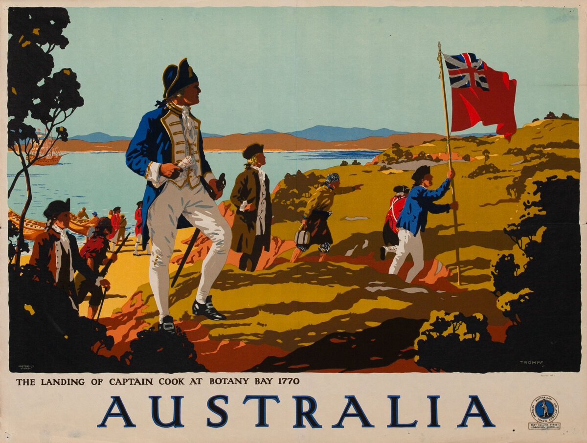 Australia, The Landing of Captain Cook at Botany Bay 1770