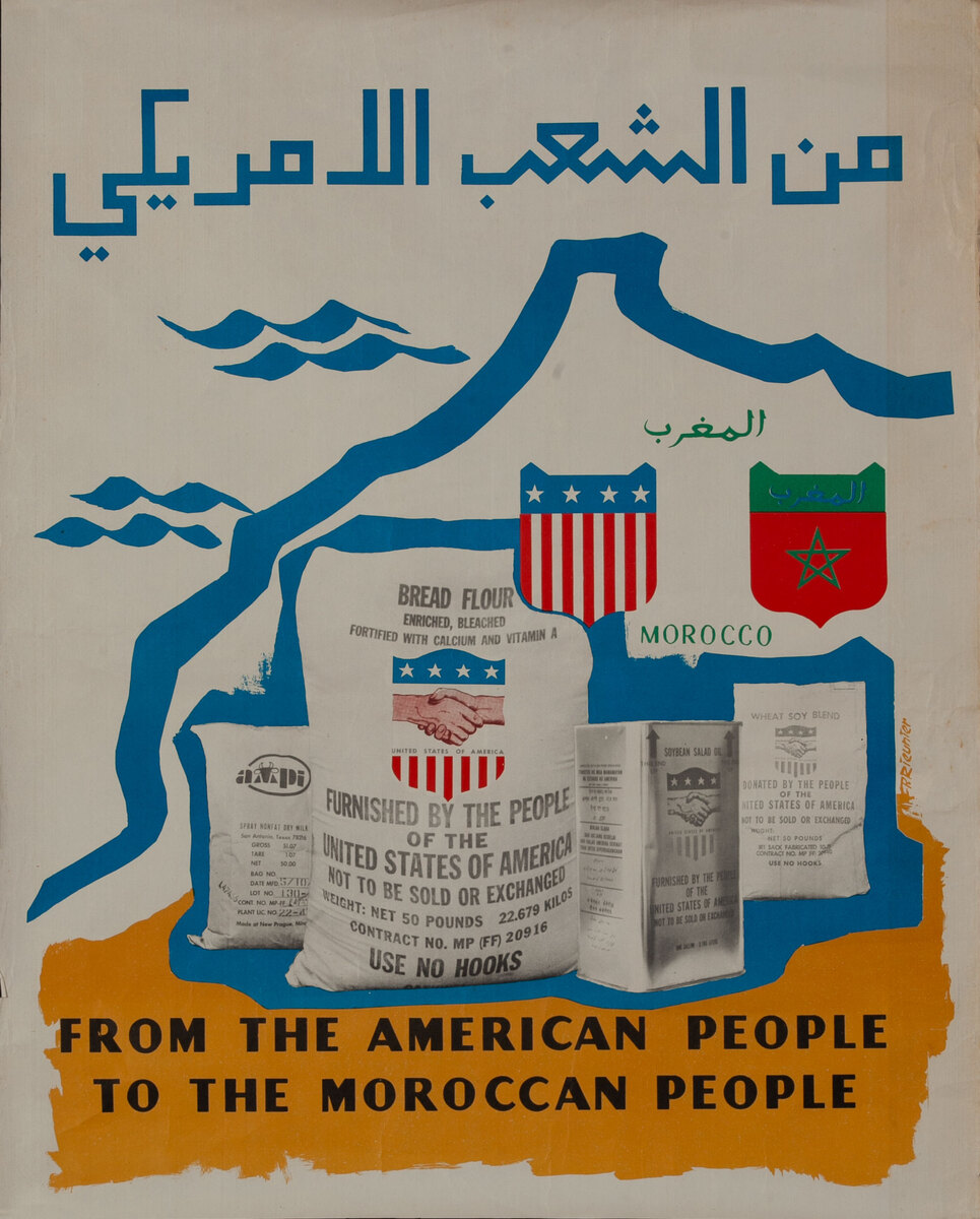 From the American People to the Moroccan People Food Aid Poster