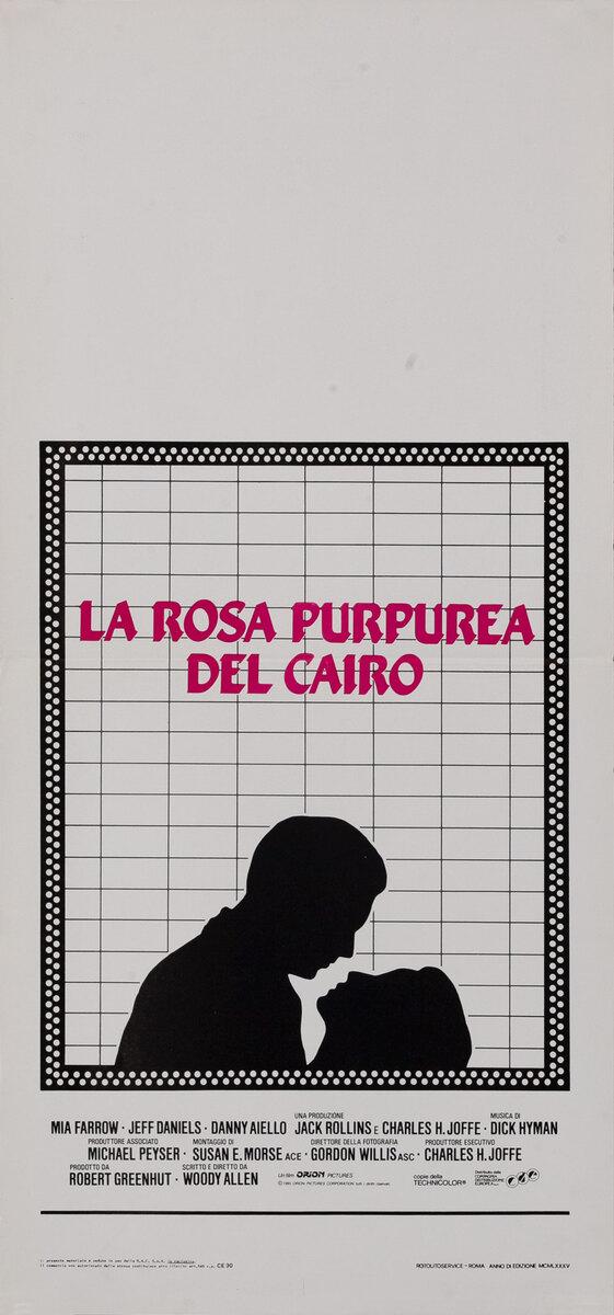 La Rosa Purpurae Del Cairo Italian Movie Poster The Purple Rose of Cairo