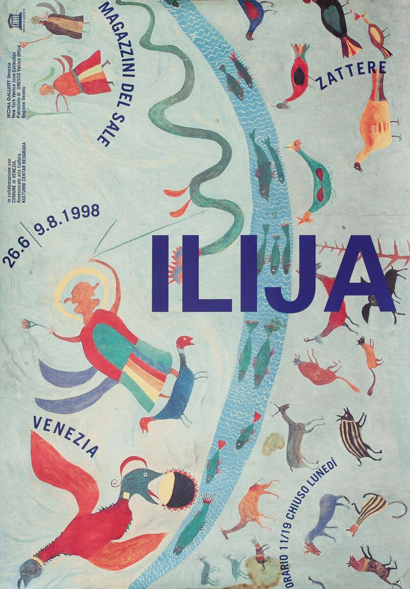Ilija, Serbian Art Exhibit Poster
