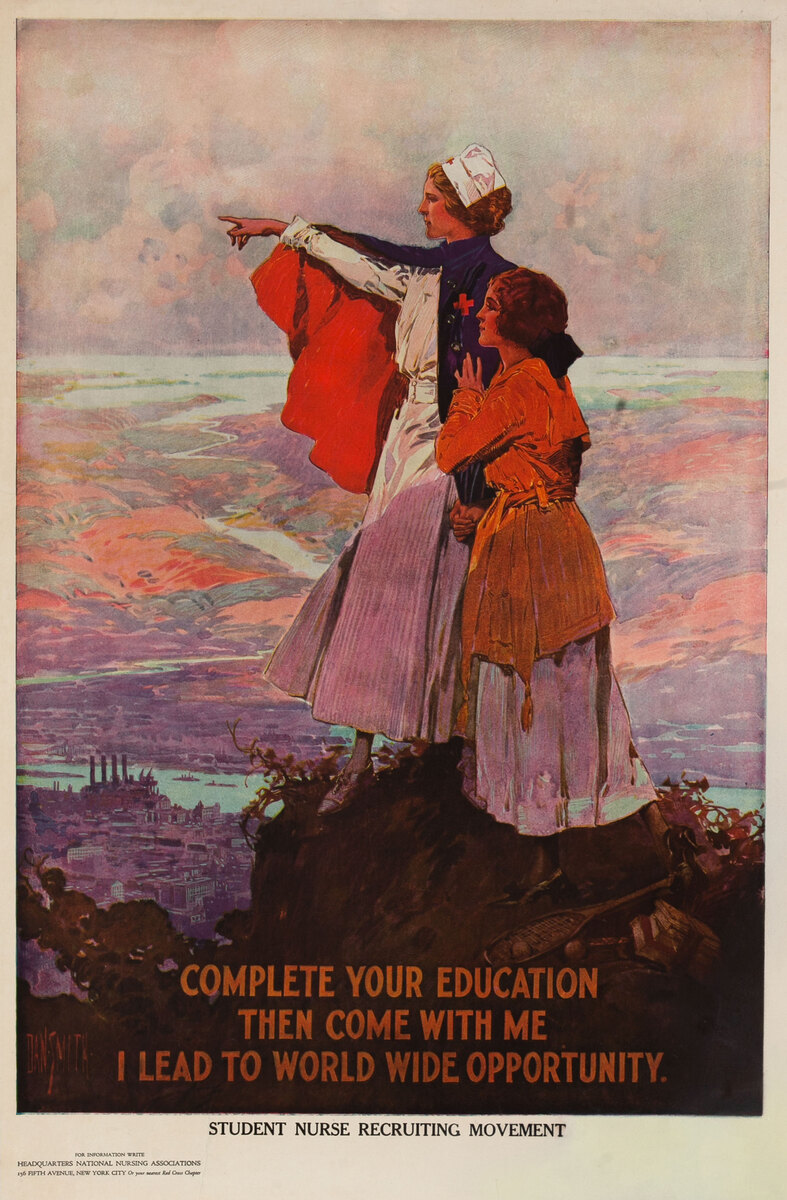 Complete Your Education, WWI Student Nurse Recruiting Movement
