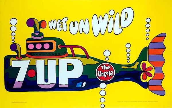7 Up Wet Un Wild Original American Advertising Poster