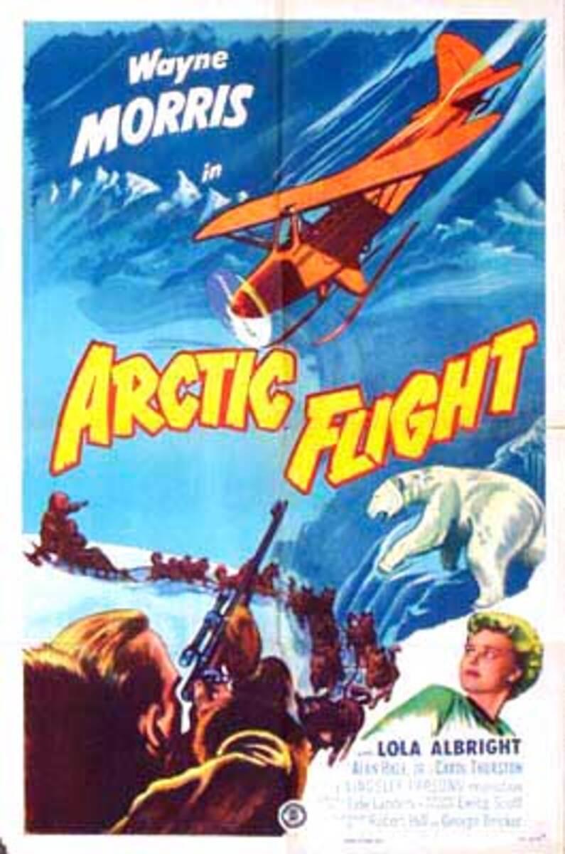 Arctic Flight Vintage Original Movie Poster