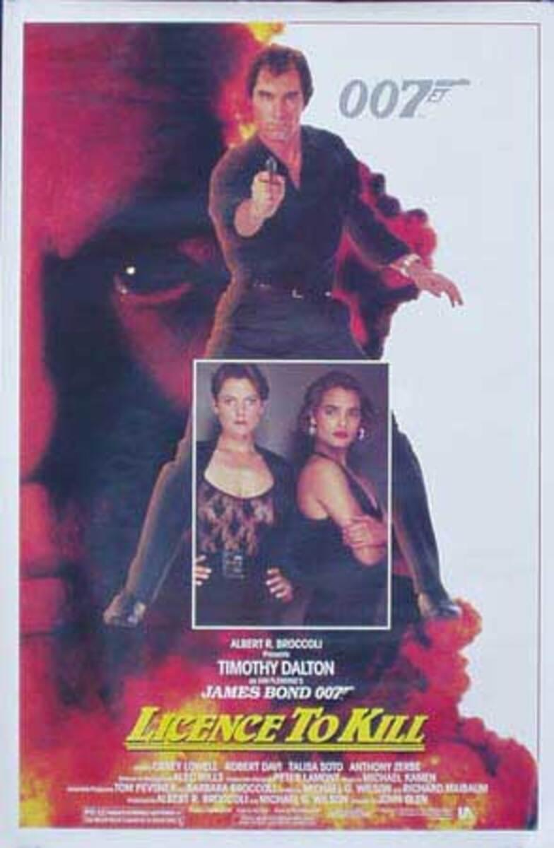 James Bond Original Vintage Movie Poster Licence To Kill