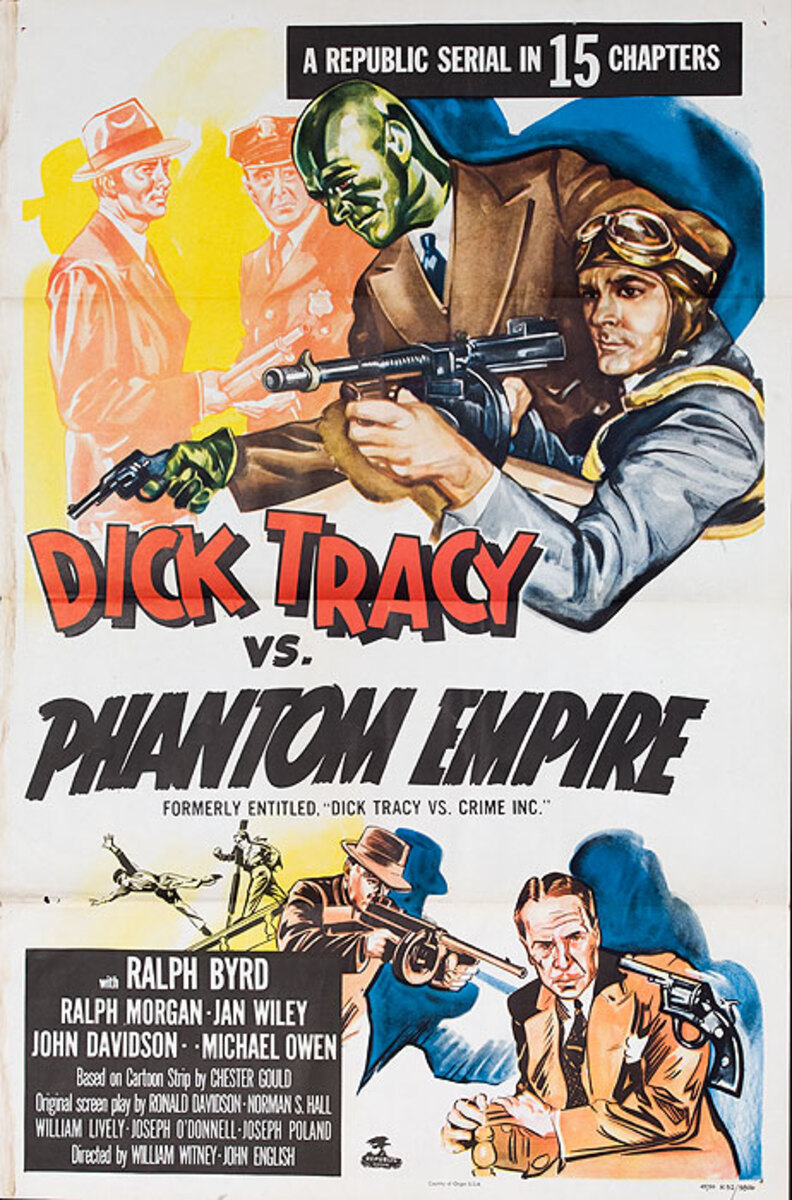 Dick Tracy vs Phantom Empire Original Republic Serial Movie Poster