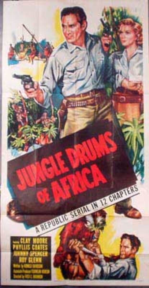 Jungle Drums of Africa  B Vintage Original Movie Poster 3 Sheet