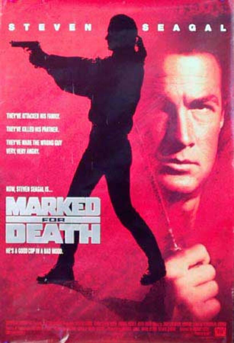 Marked For Death Original Vintage Movie Poster