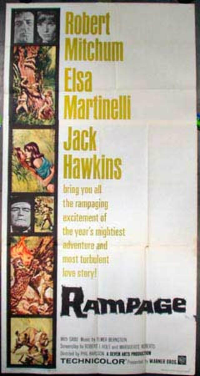 Rampage Vintage Original Movie Poster 3 Sheet