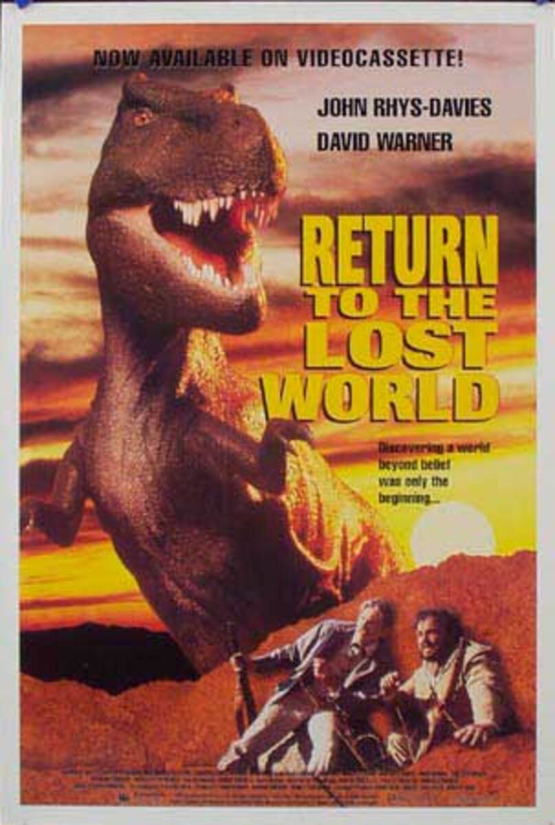 Return to the Lost World Video release Original Vintage Movie Poster