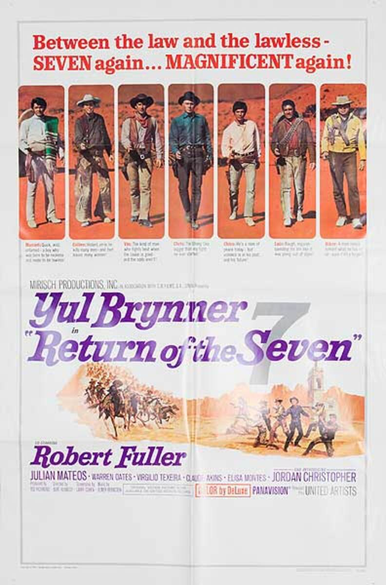 Return of the Seven Original Movie Poster