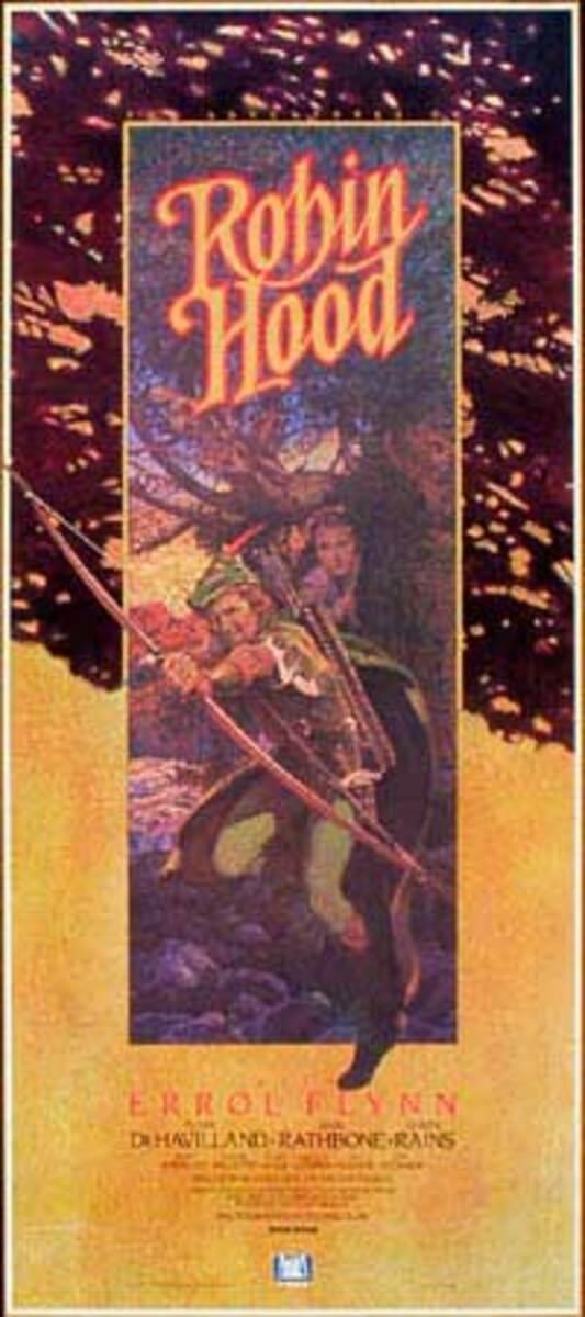 Robin Hood Video Release Vintage Original Movie Poster