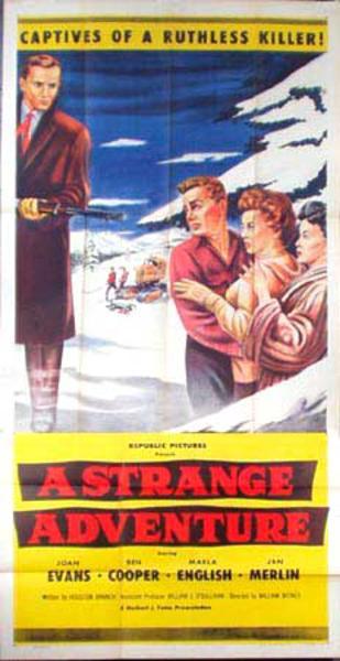 A Strange Adventure  B Vintage Original Movie Poster 3 Sheet