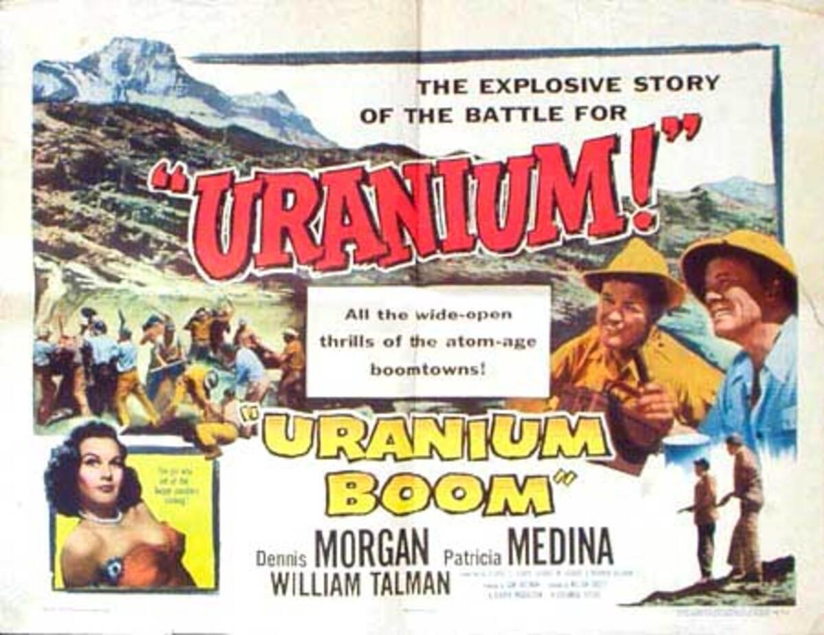 Uranium Boom Original Vintage Movie Poster