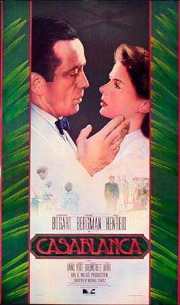 Casablanca Video Release Vintage Original Movie Poster
