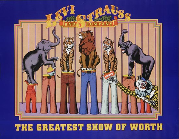 The Greatest Show of Worth Levi's Pants Original Advertising Poster
