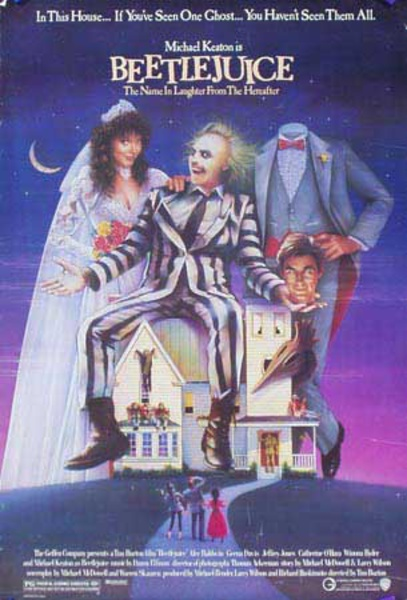 Beetlejuice Original Vintage American Movie Poster
