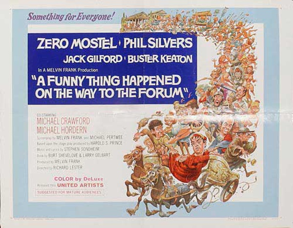 A Funny Thing Happened on the Way to the Forum Original American 1 Sheet Movie Poster