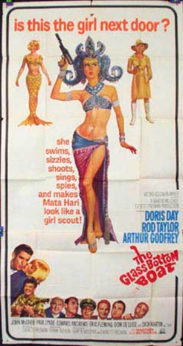 Glass Bottom Boat Original Vintage Movie Poster