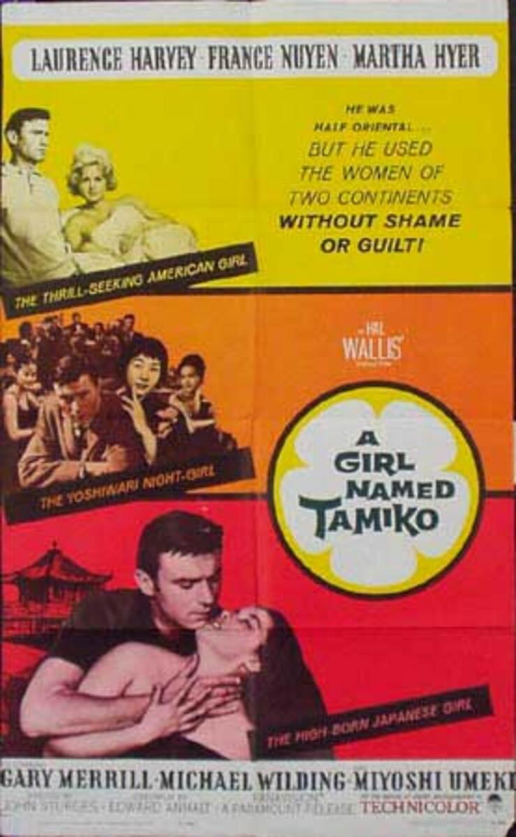 A Girl Named Tamiko Original Vintage Movie Poster
