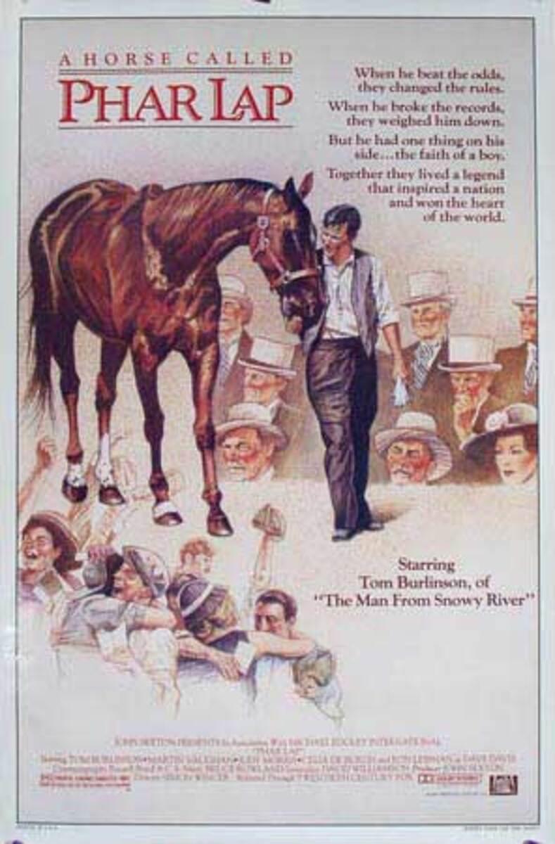 A Horse Called Pharlap Original American 1 Sheet Movie Poster