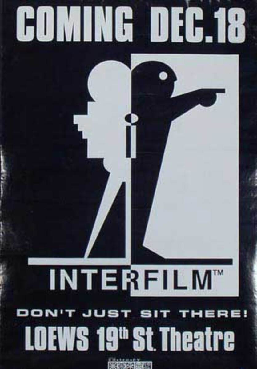 InterFilm Don't Just Sit There Original Poster