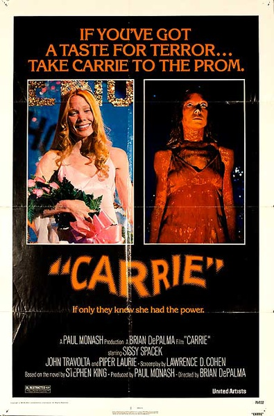 Carrie Original American Horror Movie Poster