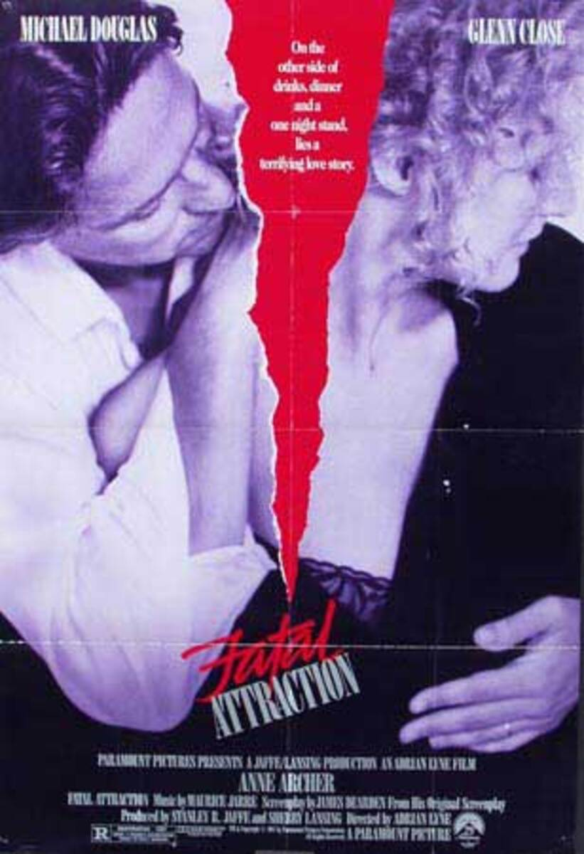 Fatal Attraction Original American 1 Sheet Movie Poster