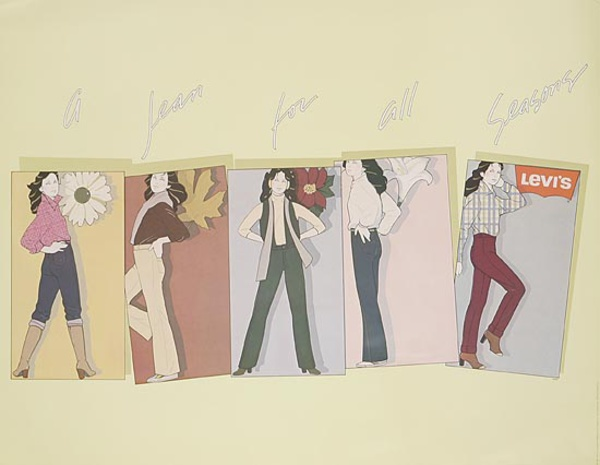 Levi's A Jean For All Seasons Original Advertising Poster