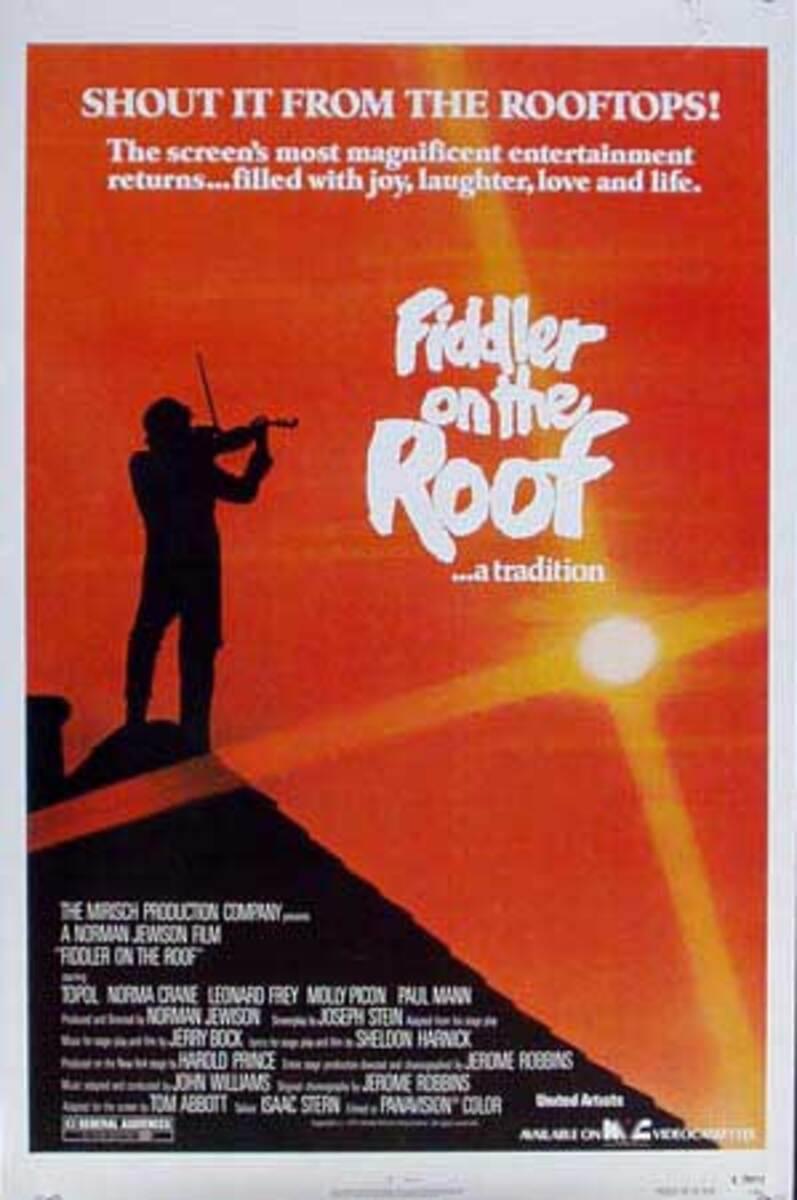 Fiddler on the Roof Original Vintage Movie Poster