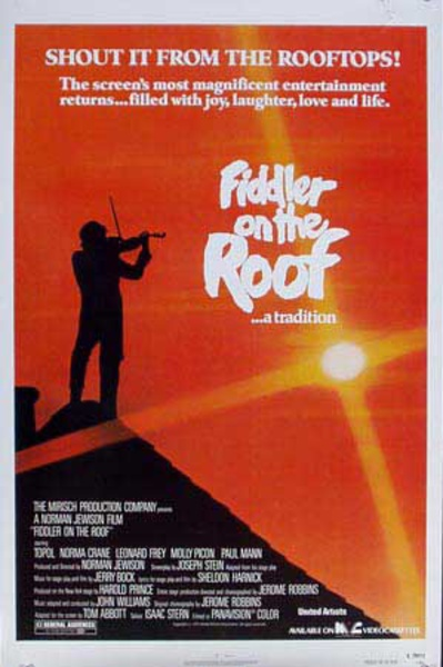 Fiddler on the Roof Original Vintage Movie Poster