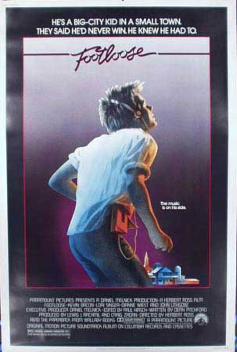 Footloose Original Vintage Movie Poster